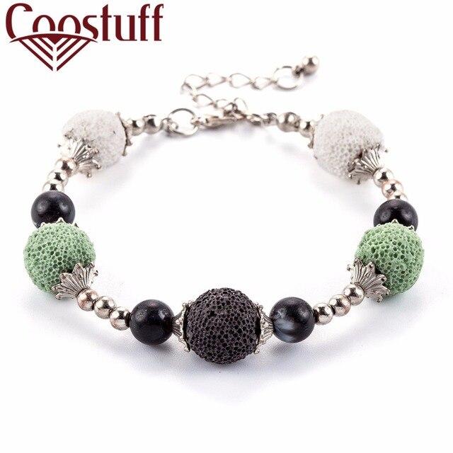 Lava Stone Beads Bracelet Women Beautiful Bangles Bracelets For Nature Strand
