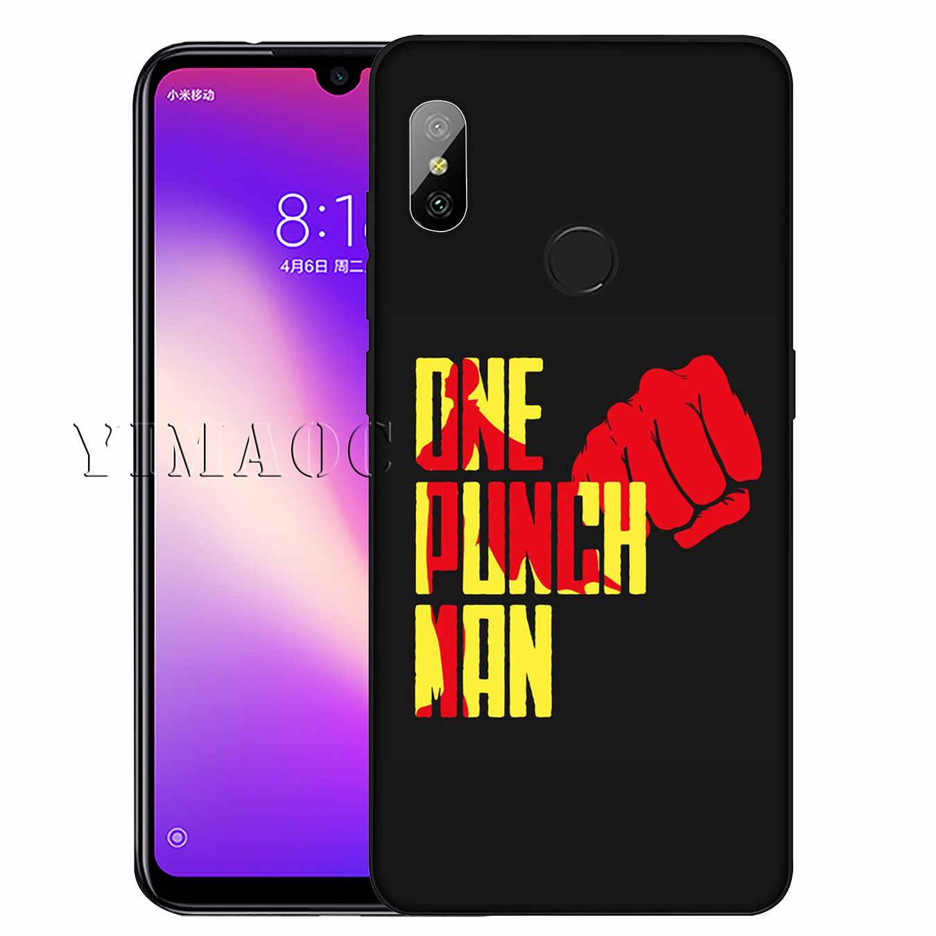 Мягкий силиконовый чехол для телефона YIMAOC ONE PUNCH MAN с рисунком для Xiaomi Redmi K20 GO S2 6A 7A 4A 4X Note 7 5 6 Pro Plus, черный чехол из ТПУ
