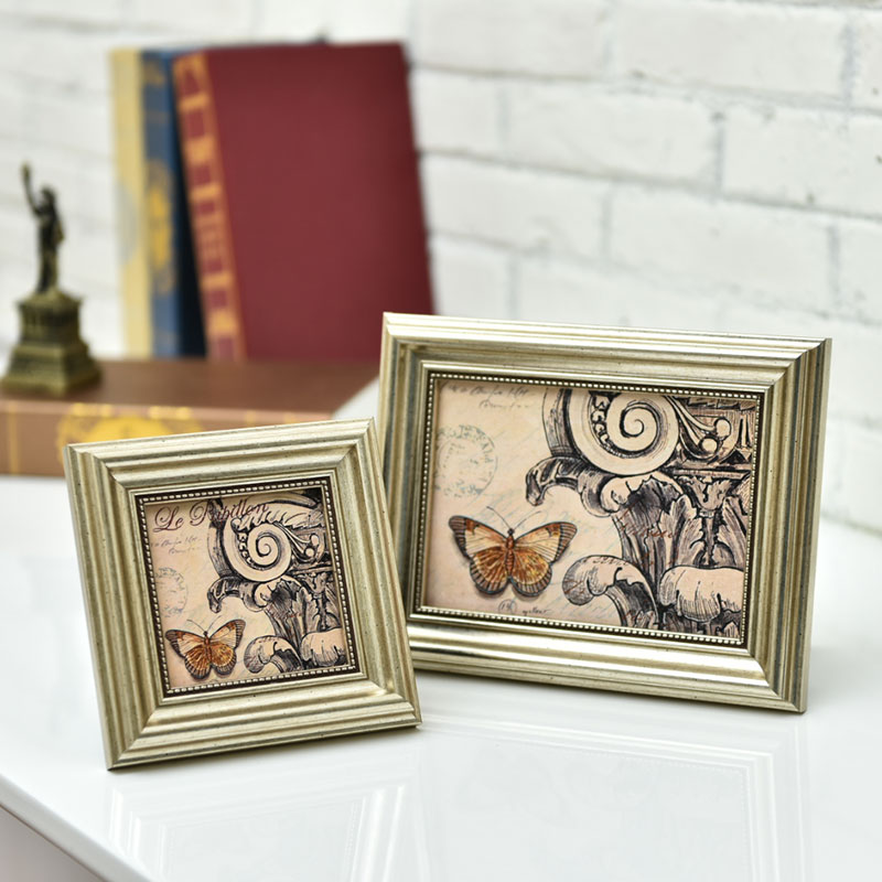 Christmas European Modern Champagne Gold Picture Frames