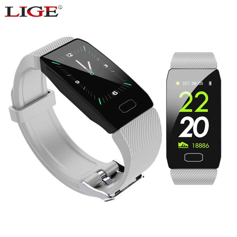 LIGE 1.14 full-screen Inteligente Pulseira Atividade Rastreador De Fitness IP67 Saúde Relógio Inteligente Multi-função À Prova D' Água Para O Android ios
