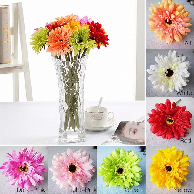 1 pcs artificial gerbera silk flower decorative simulation flowers 1 pcs artificial gerbera silk flower decorative simulation flowers for home wedding party p20 mightylinksfo