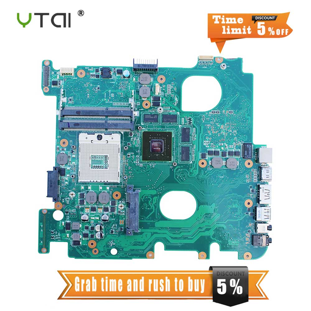 YTAI N43J N43JQ REV 2.0 HM55 DDR3 for ASUS N43J N43JF N43JM N43JQ laptop motherboard REV 2.0 HM55 DDR3 mainboard fully tested цена