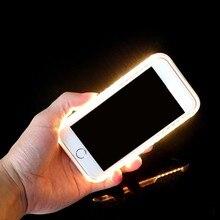 Свет 3rd поколения светящиеся Телефон чехол для iphone 8 6 6 S 7 Plus селфи световой Чехлы для iPhone 6 Plus 7 Plus Чехлы