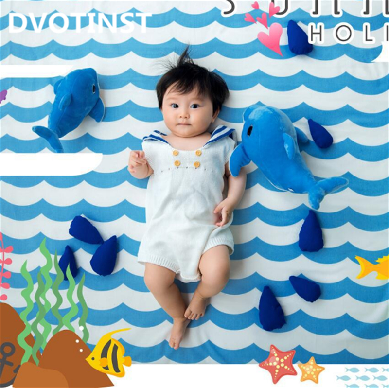 Dvotinst Newborn Baby Photography Props Underwater World Theme Background Set Fotografia Accessory Studio Shooting Photo Props mincl женщина necorative солнечные очки uv400 солнцезащитные очки зеркало