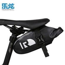 ROSWHEEL Waterproof bike saddle bag high end rainproof PVC MTB Bike Rear Bags Cycling Rear Seat