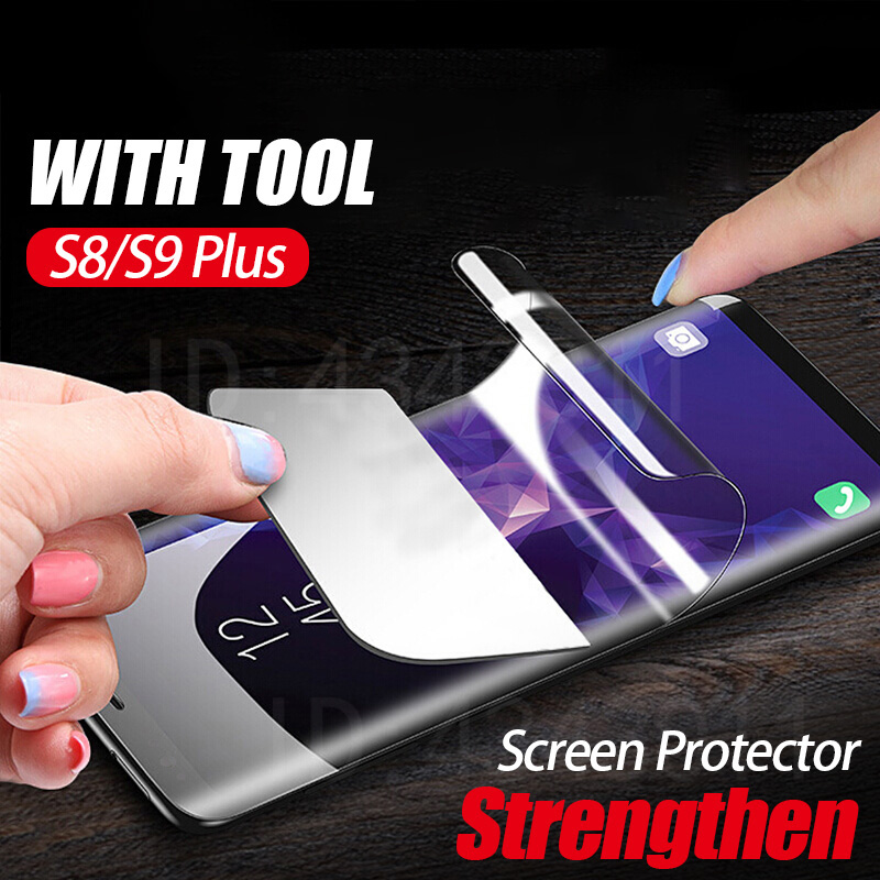 3D Full Protective Soft Hydrogel Film For Samsung Galaxy S9 Plus S8 Plus Note8 S