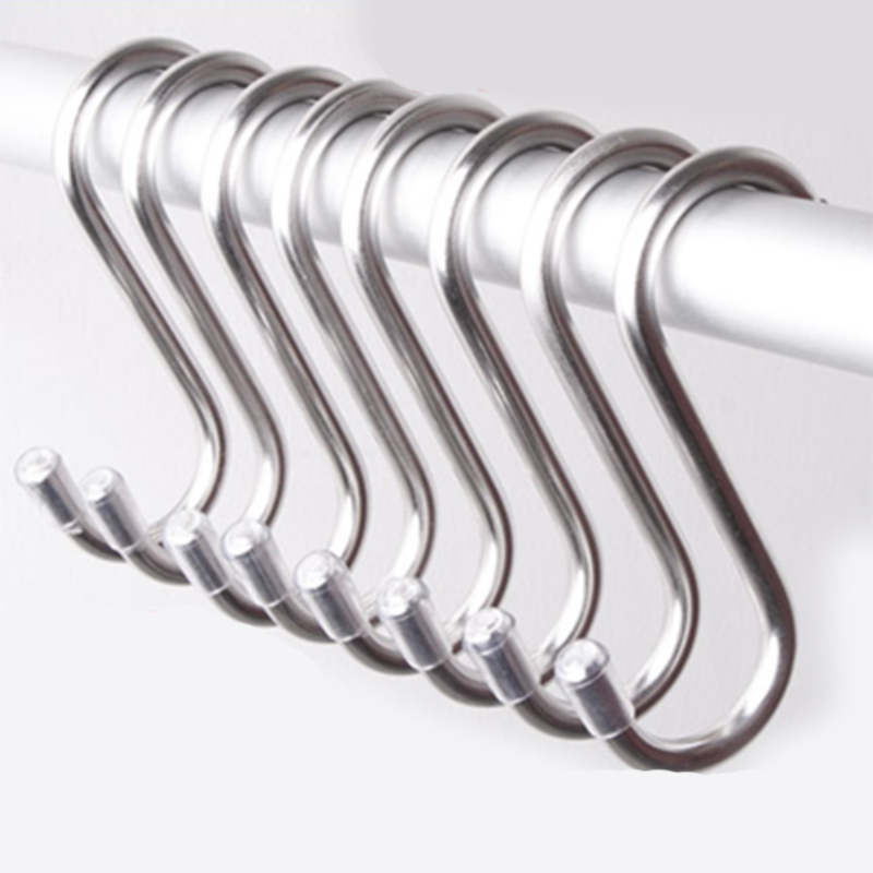 5Pcs Stainless Steel Practical S Shape Kitchen Railing