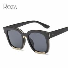 5116d8c72a913 ROZA Plano Quadro óculos de Acetato de Óculos De Sol Das Mulheres Grife  Unissex Óculos de Sol UV400 Lente de Revestimento Retro .