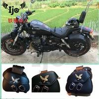 motorcycle saddlebag High quality leather for kawasaki honda suzuki universal saddle bag tool bag side bag Dirtbike mochila moto