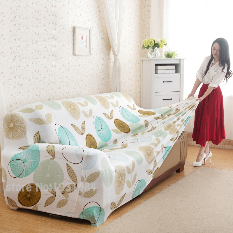 Flower Printed Sofa Cover Slipcover Elastic Converts All Inclusive Single Two Three Four Seater L Shaped In From Home