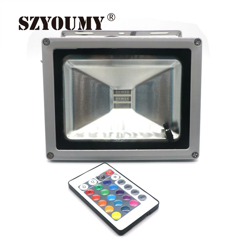 Szyoumy Waterproof 10w/20w/30w/50w/70w/100w Outdoor Led Flood Light Floodlight Warm/cool White/rgb Led Outdoor Lighting Lamp Profit Small Lights & Lighting