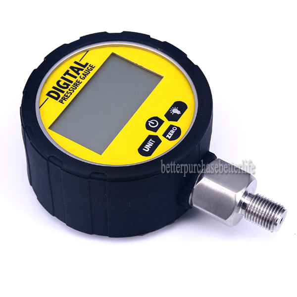 Tools : Battery Powered 304SS Metal Case NPT1 4 Digital Pressure Gauge