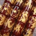 ¡ CALIENTE!! 12x16mm Lucky Tallado Hecho A Mano de Ágata Roja Dragón Tubo Flojo de Los Granos para la Pulsera hacer 24 unids/lote