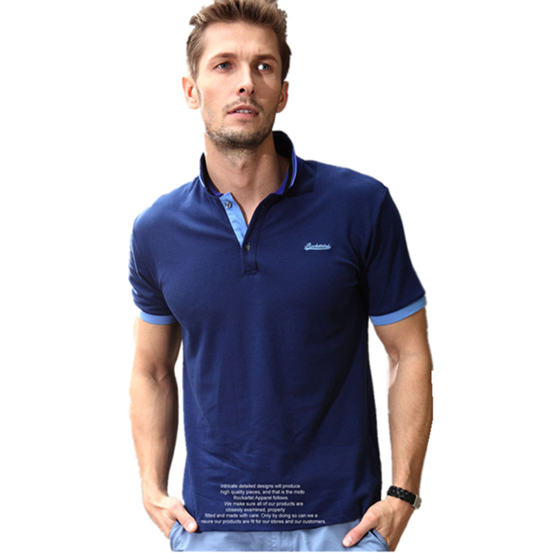 Cotton Mens Polo T shirts Men Short Summer T shirt Tops ...