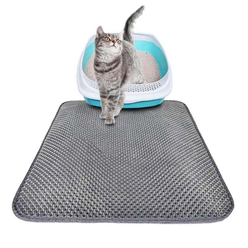 Plegable Cat Litter Trapper Mat impermeable panal de tamizado de proteger piso alfombra respetuoso del medio ambiente de espuma EVA basura Pad