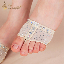 dongja New 2017 Heel Protector Professional Ballet Dance Socks 1 Pair Belly Dancing Foot thong Dance Accessories Toe Pads T-1708 цена 2017