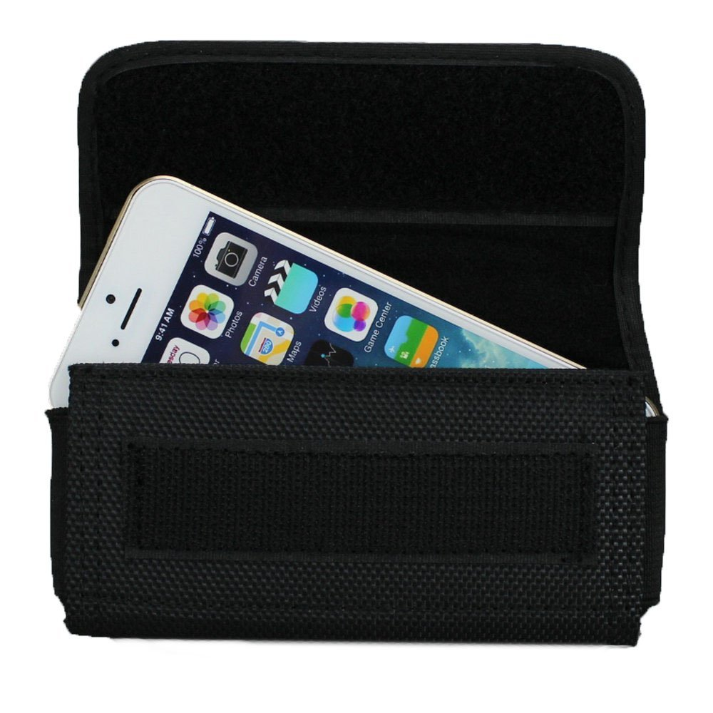 new concept 80491 42166 US $6.79 15% OFF|Canvas Pouch Nylon Case Horizontal Holster Belt Clip for  iPhone 5 5s 5c SE Fit with Protective Case-in Phone Pouch from Cellphones &  ...