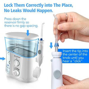 Image 5 - Nicefeel 1000ML eau dentaire Flosser électrique Oral irrigateur soins dentaire Flosser eau brosse à dents dentaire SPA avec 7 pièces conseils