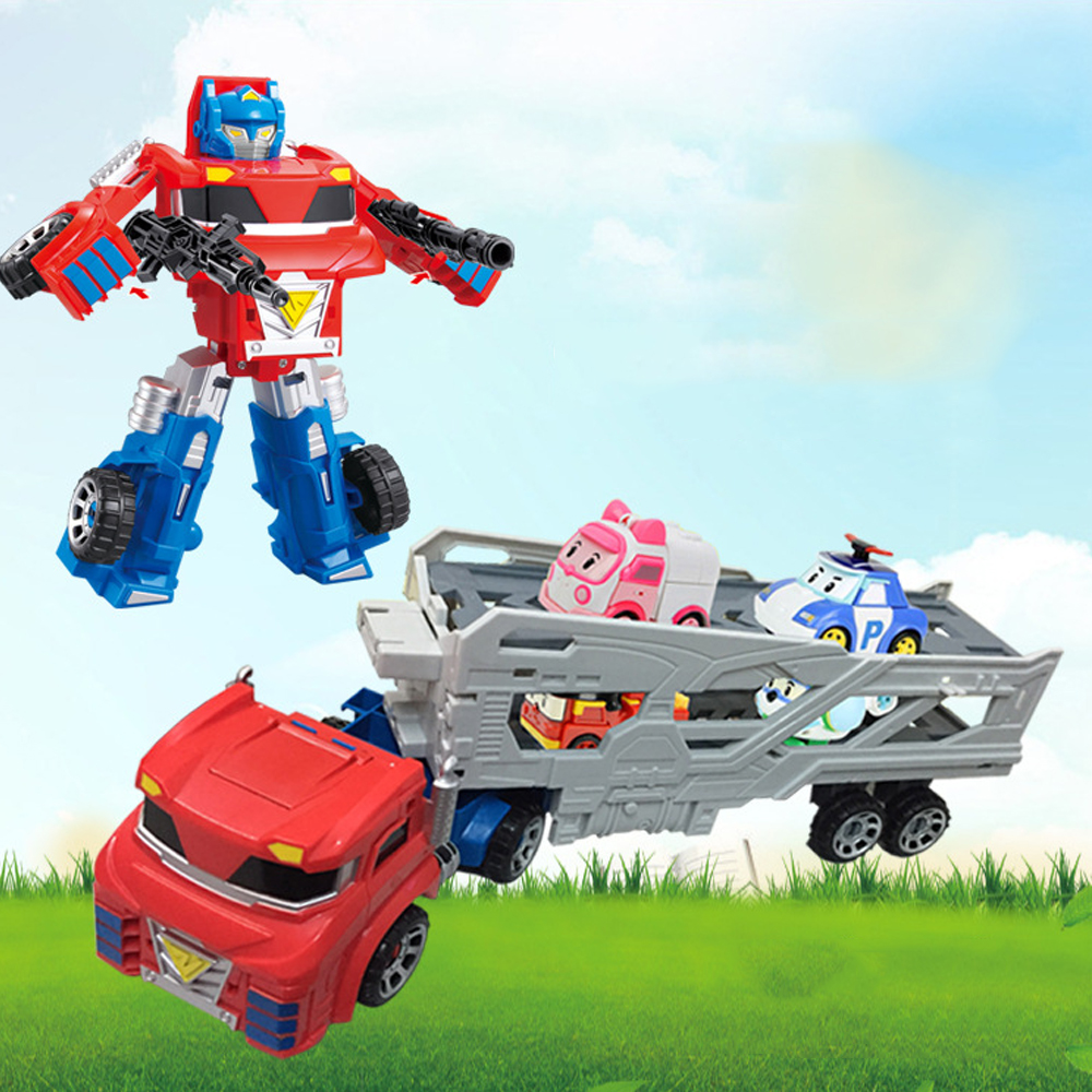 New Original boy poli Robocar Korea toy The tractor equipped with Robocar Poli Transformation Action Figures Toys for ChildrenNew Original boy poli Robocar Korea toy The tractor equipped with Robocar Poli Transformation Action Figures Toys for Children