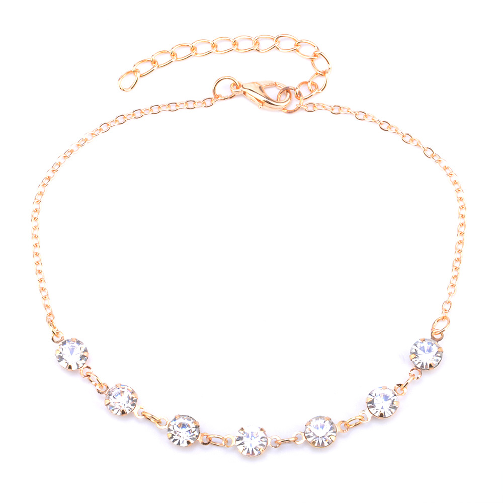 2017 Charming Crystal Bride Anklet Jewelry For Women Girl Ankle Leg Jewelry Chain Charm Bracelet Summer Jewelry
