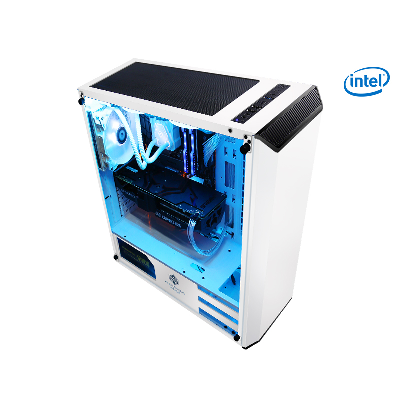 Kotin S13 Gaming Desktop PC Computer i7 8700K GTX 1070 8GB RAM Video Card Desktop Computer 120 Water Cooler Free 5 White Fans getworth r31 liquid cooling computer intel i7 desktop i7 8700k 8g ram gtx1060 wd 240g ssd win10 home 6 led fans water cooling pc