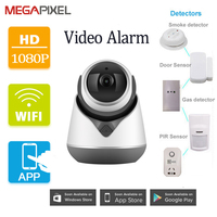 Megapixel CCTV video alarm system kits Surveillance security ip camera hd 1080p wifi wireless PT Smart home system baby monitor
