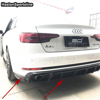 A4 B9 ABT Style Carbon Fiber Car Rear Flap Cupwings Bumper Diffuser for Audi A4 B9 S line A4 Sport Bumper Only 2016~2019