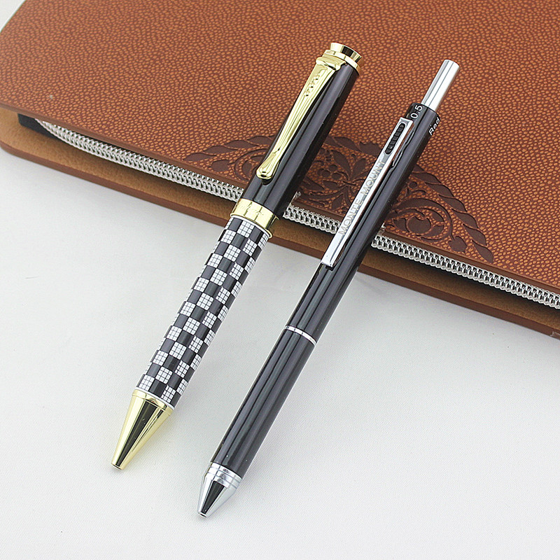 US $8 5 15% OFF|Jinhao executive Plaid black 12 colour Rollerball Pen High  Quality luxury office school Stationery material supplies pencil-in