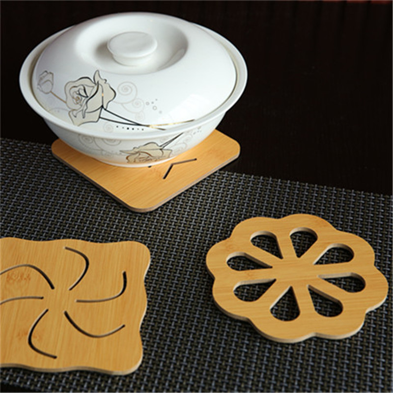 Wooden Insulation Mattress Creative Table Plate Mattress Household Anti-hot Mattress Pot Mattress Drink Coasters Place Mats image