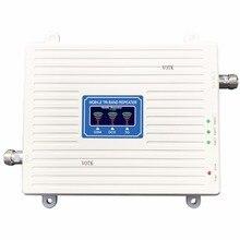 Votk Новый трехдиапазонный ретранслятора 2 г 3 г 4 г усилитель сигнала GSM 900 DCS/LTE 1800 WCDMA /UMTS 2100 мГц усилитель мобильный сигнал антенны