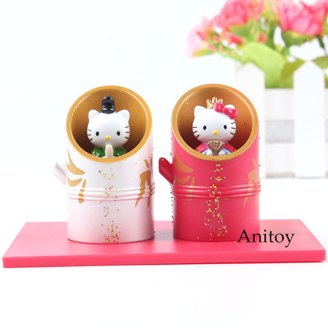 Hellokitty Hello Kitty Figure Prince Princess PVC Anime Japan Birthday Gifts Kids Girls Toy 2pcs Set 6cm