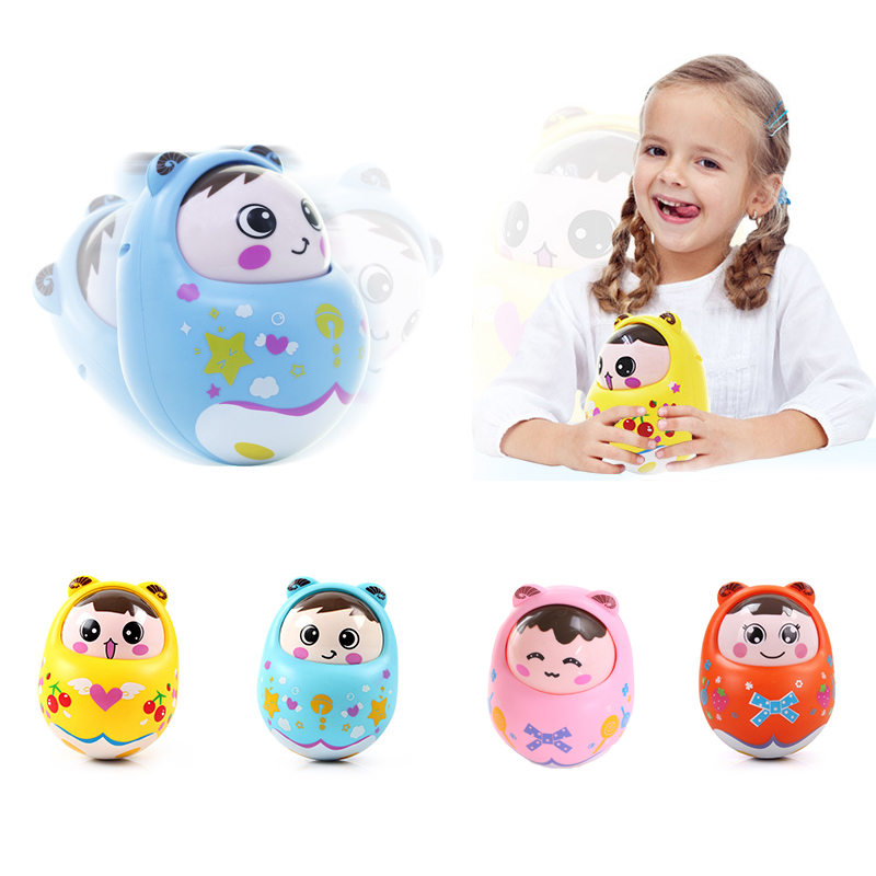 Cartoon Baby Tumbler Rattles Bells Children Baby Toddler Education Toys ...