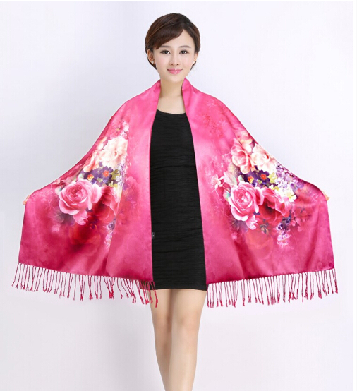 100 pure silk shawl wrap scarf scarves thickening women tease spring autumn winter silk capein scarves from womenu0027s clothing u0026 accessories on