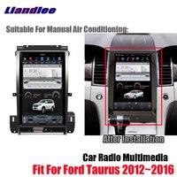 Liandlee Android Tesla vertical Screen For Ford Taurus 2012~2016 Car BT Carplay Mirror link GPS Navi Navigation Map Camera Media