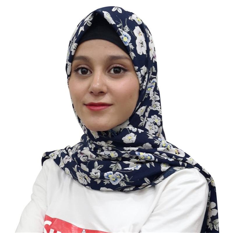 Muslim Headscarf Bubble Chiffon Hijab Arab Headscarf Female Scarves Women 2018  Shawl Islamic Warp