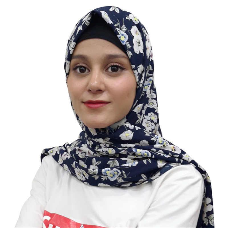 bd37718468f6b Muslim Headscarf Bubble Chiffon Hijab Arab Headscarf Female Scarves Women  2018 Shawl Islamic Warp