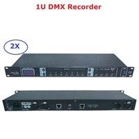 2 ピース/ロット新デザイン DMX512 コントローラ 1U dmx レコーダー簡単コンソールプロの舞台照明ショー機器 dmx レコーダー