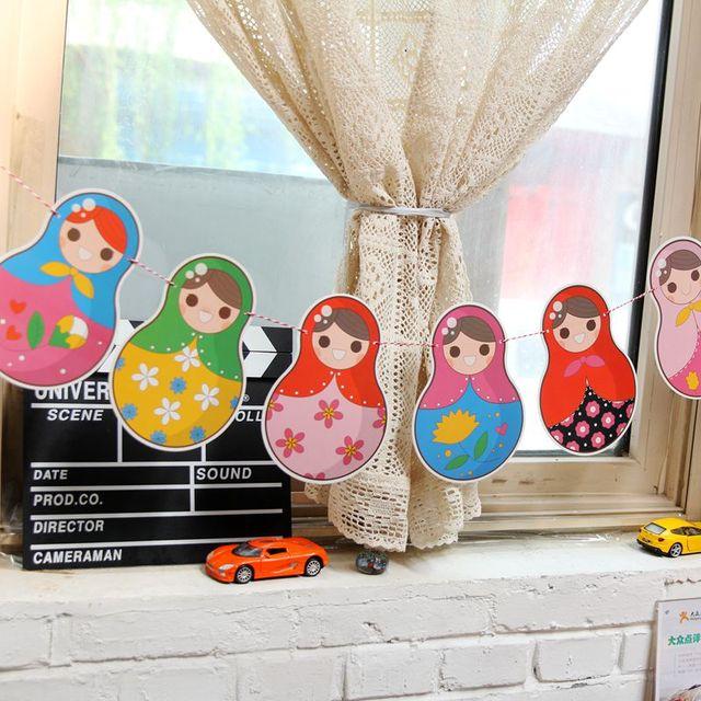 Matryoshka Papier Banner Russische Puppe Bunting Garland Baby Shower
