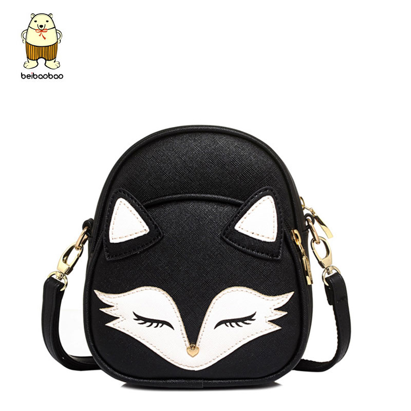 Beibaobao cute crossbody bag girls Small bag fox messenger bags high quality summer style women shoulder bags bolsas pouch tote auau new bags women skull head shoulder crossbody small personalized messenger bag handbag hight quality vintage cute style 2017