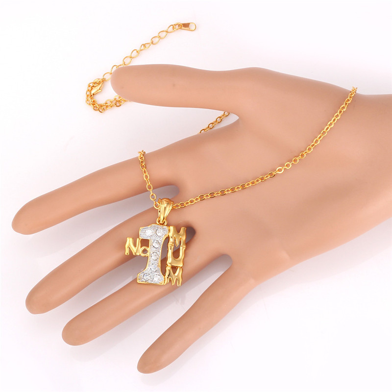 Necklaces pendants no1 mum jewelry yellow gold color necklace necklaces pendants no1 mum jewelry yellow gold color necklace nice rhinestone charms gift for mother p1161 in pendants from jewelry accessories on mozeypictures Image collections