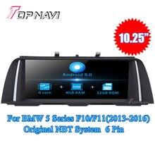 Topnavi Android 9,0 Автомагнитола для BMW 5 серии F10/F11 (2011-2012) 5 серии F10/F11 (2013-2016) gps навигация без DVD