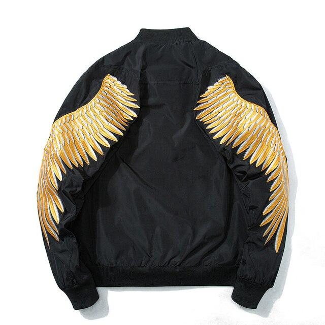 Дропшиппинг оптовиков поставщик 2018 Весна High Street Новый Gold Wing Вышивка куртка Для мужчин
