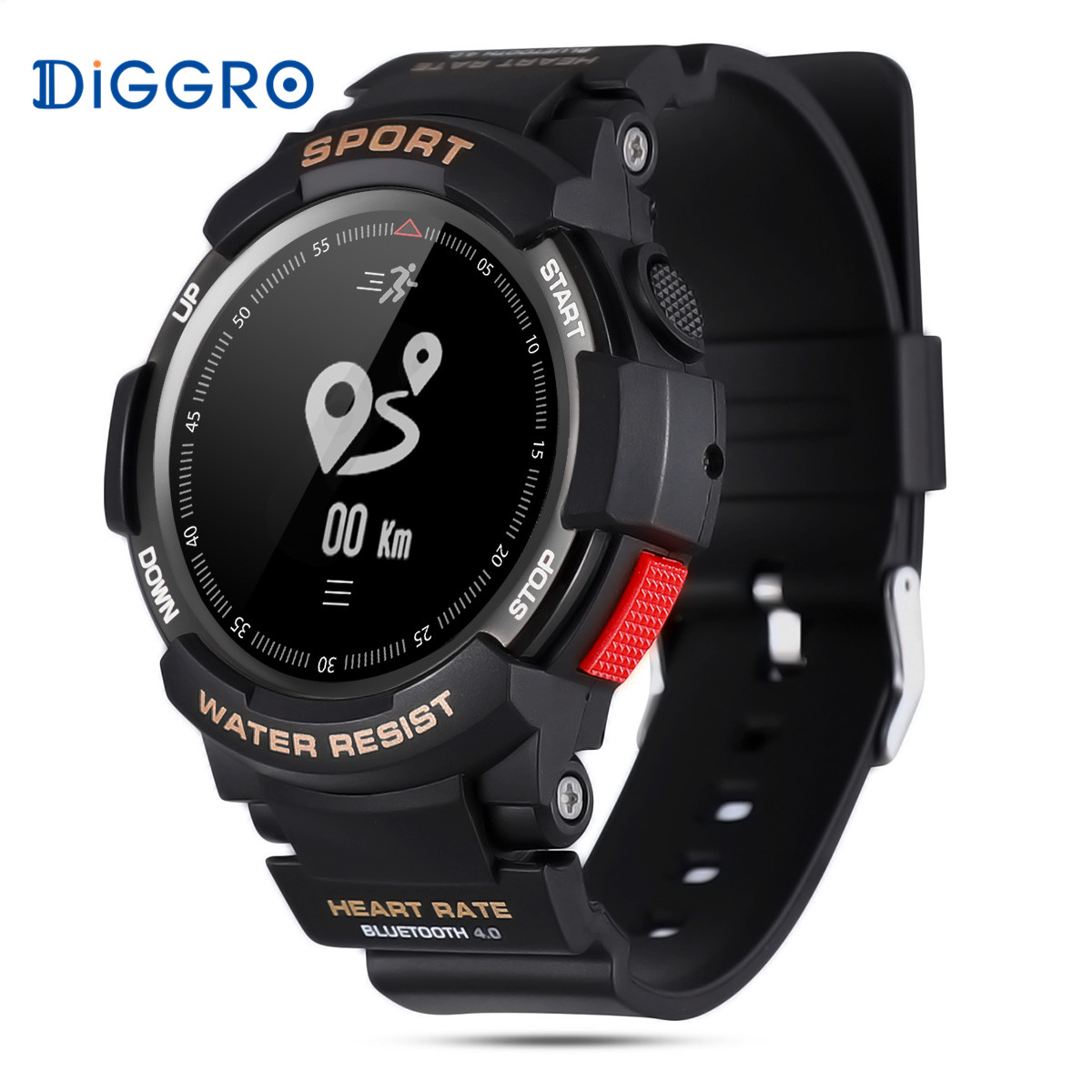 Diggro DI09 Heart Rate IP68 Professional Waterproof Sleeping Monitor Call Message Reminder Remote Smart Watch For IOS Android