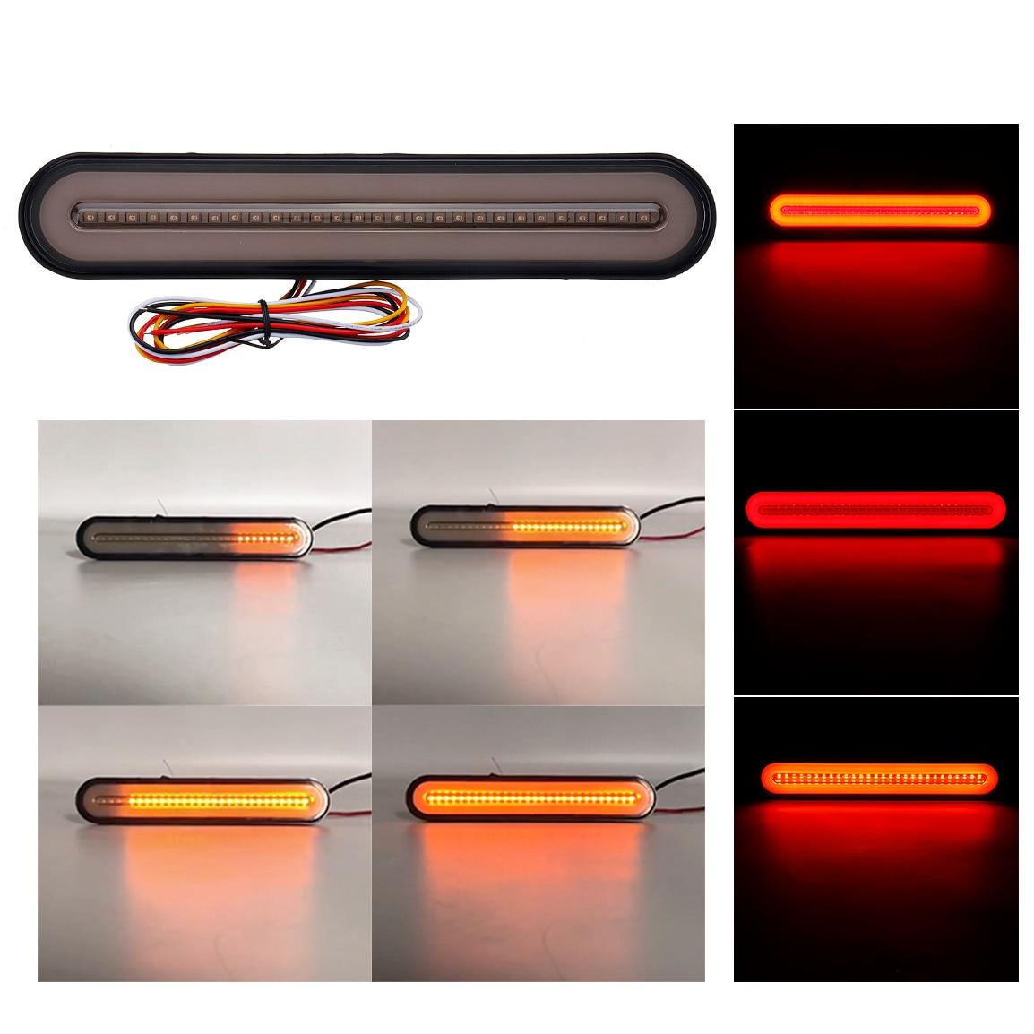 Image 2 - 1/2/4PCS 3 in 1 Neon LED Trailer Truck Brake Light Waterproof Tail Brake Stop Light Flowing Turn Signal Lamp 12 24VSignal Lamp   -
