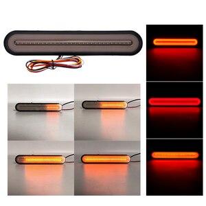 Image 2 - 3 in 1 Neon LED Trailer Truck Brake Light Waterproof Tail Brake Stop Light Flowing Turn Signal Lamp 12 24V
