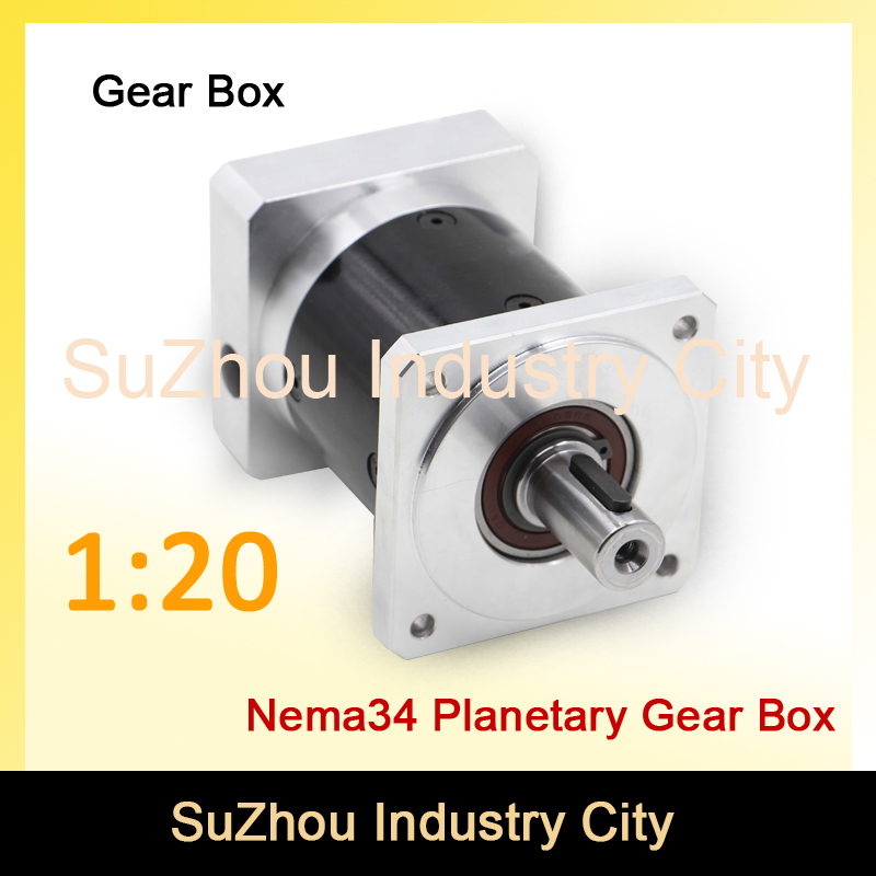 Nema34 stepper Motor Planetary Reduction Ratio 1:20 planet gearbox 86 motor speed reducer, High Torque high quality 6~8 arcmin! цена и фото