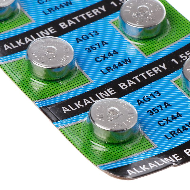 10PCS Alkaline Battery AG13 1.5V LR44 386 Button Coin Cell Watch Toys Batteries Control Remote SR43 186 SR1142 LR1142 F42D