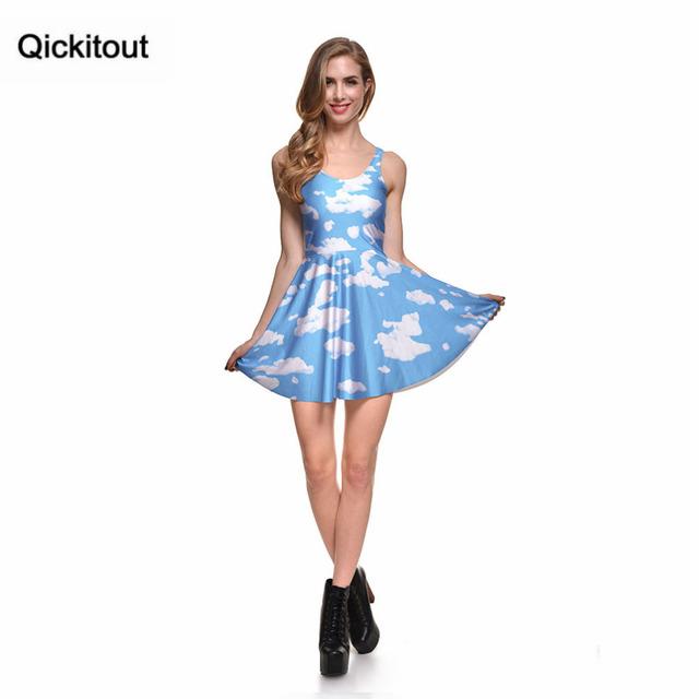 Primavera caliente nueva ropa de mujer caliente vestidos femeninos tuitear nubes vestido de patinadora REVERSIBLE-WKEND PRE venta plisado Envío Directo s119-72