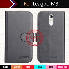 """Leagoo M8 Case 5.5"""" Factory Direct! 6 Colors Dedicated Flip Leather Exclusive 100% Special Phone Cover Cases+Tracking"""