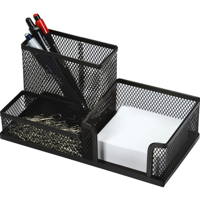 Perfect Office Desk Desktop Steel Mesh Collection Multifunction Pencil Cup Pen  Holder Organizer